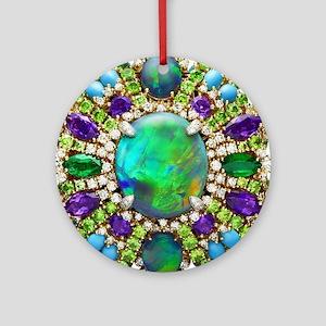 Jewelry Mandala Round Ornament