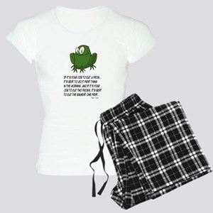 EAT A FROG. MARK TWAIN Women's Light Pajamas