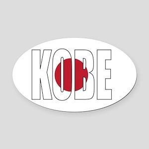 Kobe Oval Car Magnet