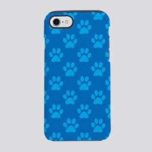 Blue paw prints pattern iPhone 7 Tough Case