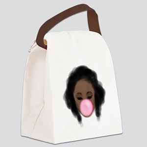 Bubble Gum Girl Canvas Lunch Bag