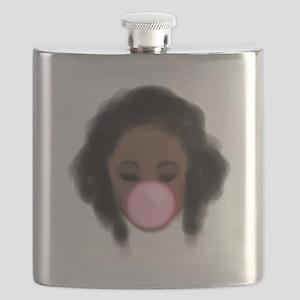 Bubble Gum Girl Flask