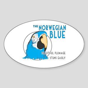 Norwegian Blue Oval Sticker