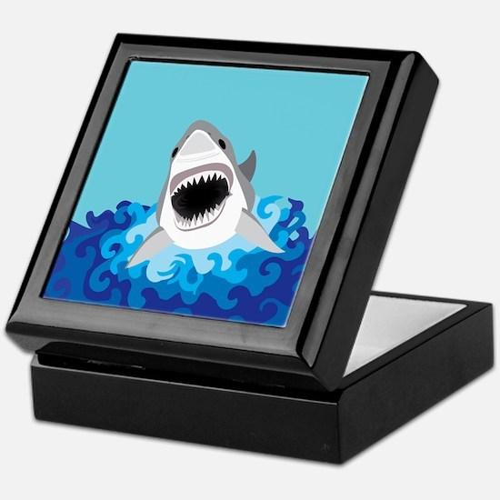 Shark Attack Keepsake Box