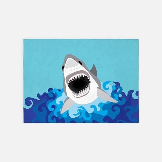 Shark Attack 5'x7'Area Rug