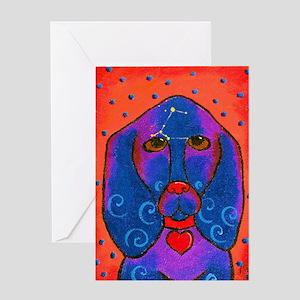 Siriusly -Basset hound Greeting Card