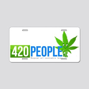 420 People Logo Classic 1 Aluminum License Plate