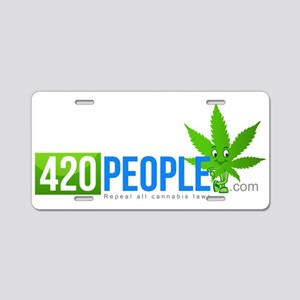 420 People with .com Aluminum License Plate