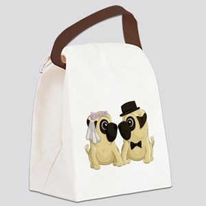 Wedding Pugs Canvas Lunch Bag
