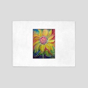 Sunflower! Bright, flower art! 5'x7'Area Rug