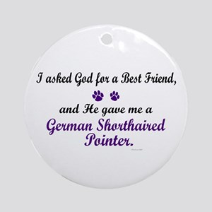 God Gave Me A German SH Pointer Ornament (Round)