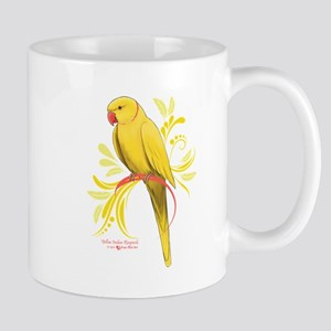 Yellow Indian Ringneck Parrot Mugs