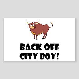Back Off City Boy Sticker
