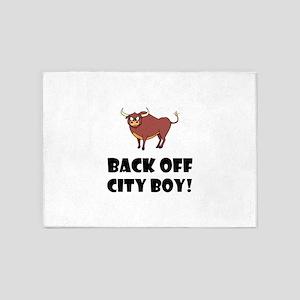 Back Off City Boy 5'x7'Area Rug