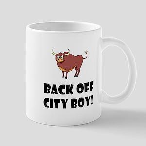 Back Off City Boy Mugs