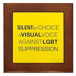 Silent By Choice Framed Tile