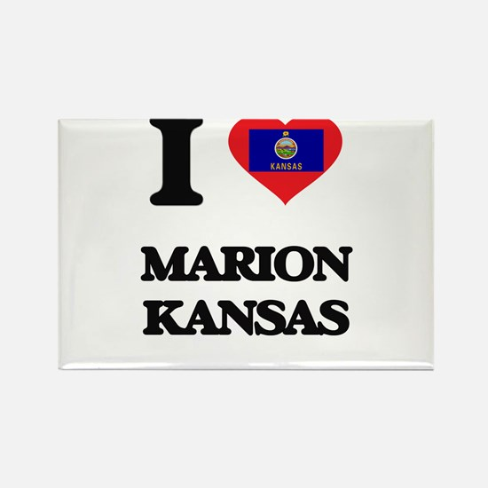 I love Marion Kansas Magnets