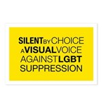 Silent By Choice Postcards (Package of 8)