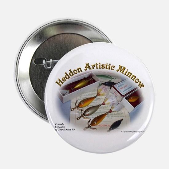 "Heddon Artistic Minnow 2.25"" Button (10 pack)"