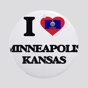 I love Minneapolis Kansas Ornament (Round)