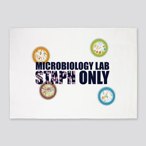 Microbiology Lab Staph Only 5'x7'Area Rug