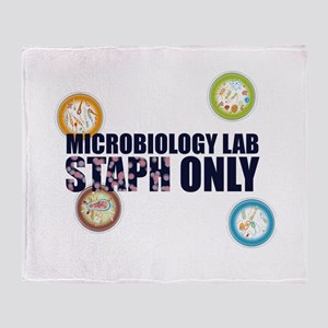 Microbiology Lab Staph Only Throw Blanket