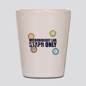 Microbiology Lab Staph Only Shot Glass