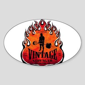 VINTAGE STRENGTH BRAND Oval Sticker