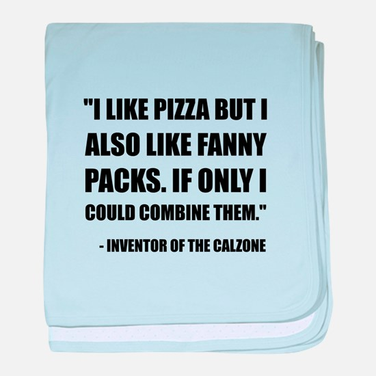 Pizza Fanny Pack Calzone baby blanket