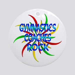 Gymnastics Coaches Rock Ornament (Round)