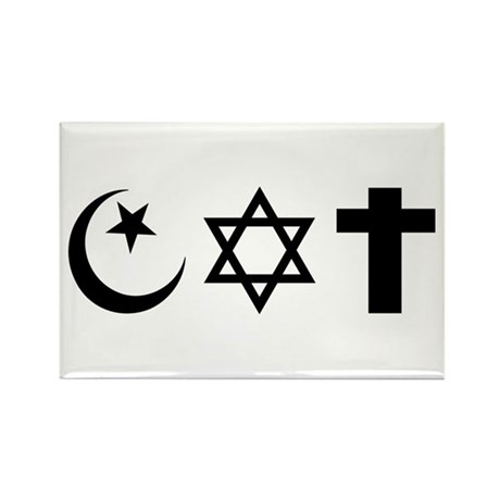 Tri-Faiths Rectangle Magnet