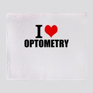 I Love Optometry Throw Blanket