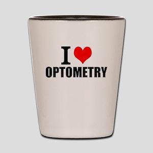 I Love Optometry Shot Glass
