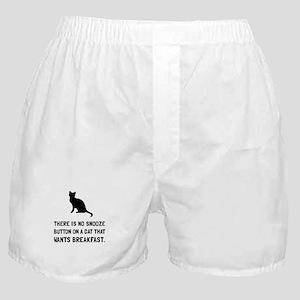 Snooze Button Cat Boxer Shorts
