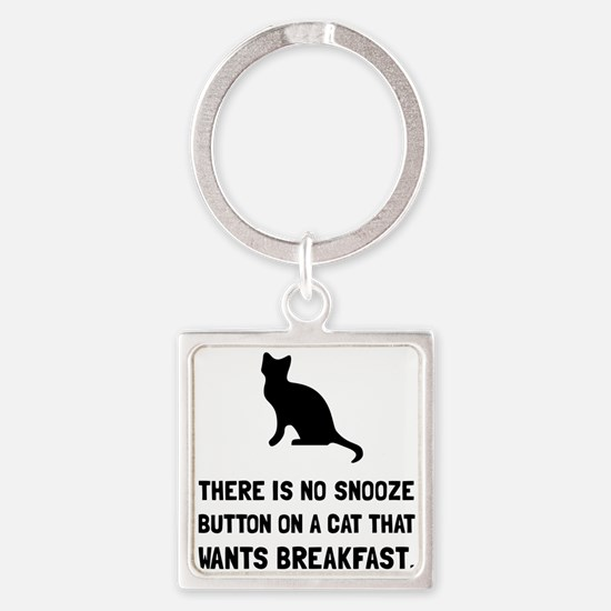 Snooze Button Cat Keychains