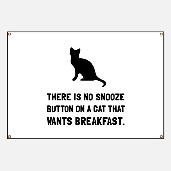 Snooze Button Cat Banner