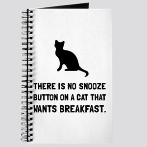Snooze Button Cat Journal