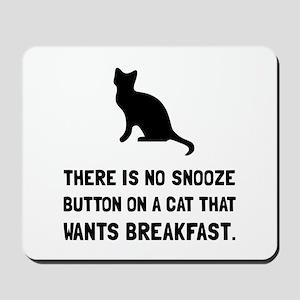 Snooze Button Cat Mousepad