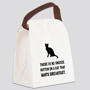 Snooze Button Cat Canvas Lunch Bag