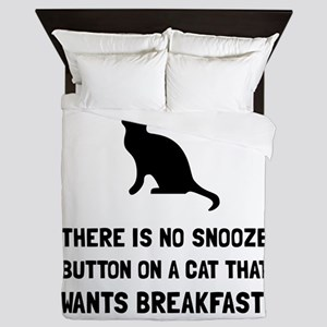 Snooze Button Cat Queen Duvet