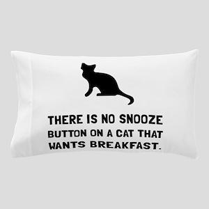 Snooze Button Cat Pillow Case