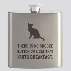 Snooze Button Cat Flask