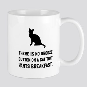 Snooze Button Cat Mugs