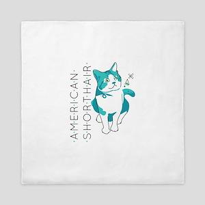 American shorthair cat Queen Duvet