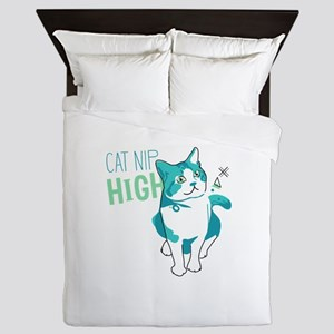 American shorthair cat nip high Queen Duvet