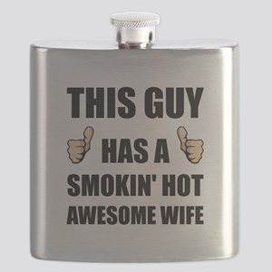 This Guy Awesome Hot Wife Flask