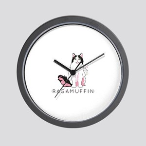 Ragamuffin cat Wall Clock