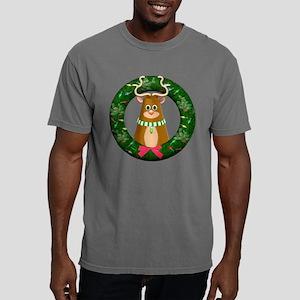 Cute Toon Reindeer in Wreath T-Shirt