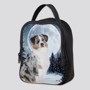 Australian Shepherd Neoprene Lunch Bag