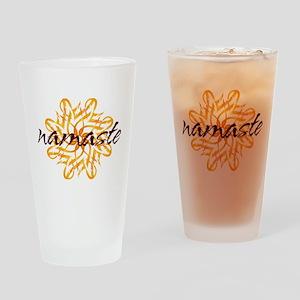 namaste_warm_white Drinking Glass